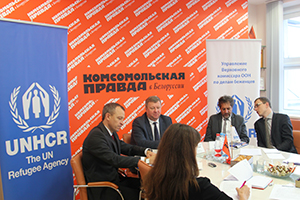 "Press conference in ""Komsomolskaya Pravda"" press center"